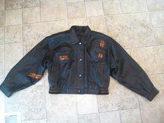 Vintage Creazioni Alta Moda Geometric Leather Bolero Jacket Made Italy Sz 42 #altamoda