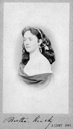 Bertha von Suttner (née Countess Kinsky).