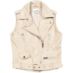 Sans Souci Vegan leather moto vest