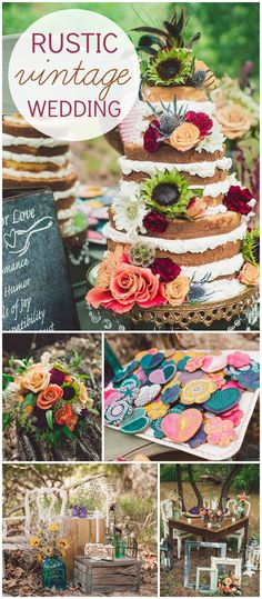 A bohemian wedding with some glamorous touches set to a backdrop of the woods and river! See more party planning ideas at CatchMyParty.com!