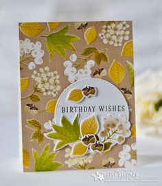 Birthday Wishes Card by Betsy Veldman for Papertrey Ink (August 2016)