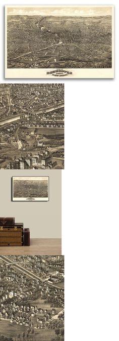 20x30 Helena Montana 1890 Historic Panoramic Town Map
