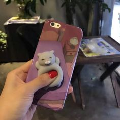 Squishy cat on a phone case <3 wahhh why do they not have for androids? :(