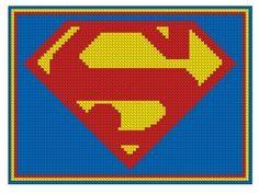 Superman Logo Cross Stitch Kit by jpcrossstitch on Etsy, $9.95
