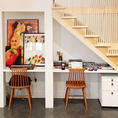 11 creative ideas for that awkward space under the stairs (image via houzz.com)