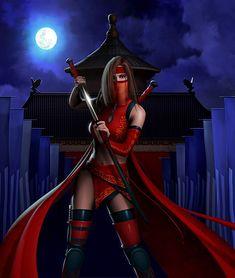 Samurai Girl by Michael Oswald Fantasy Warrior, Warrior Girl, Warrior Princess, Warrior Women, Fantasy Samurai, Ninja Warrior, Samurai Girl, Samurai Warrior, Fantasy Women