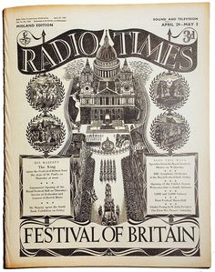 April 29 - May 5, 1951 - Radio Times Special Logo for the 'Festival of Britain' issue