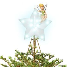 Light-Up Tinker Bell Tree Topper | Tree Skirts & Toppers | Disney Store