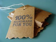 hand made | tags| labels | stickers | seals | packaging