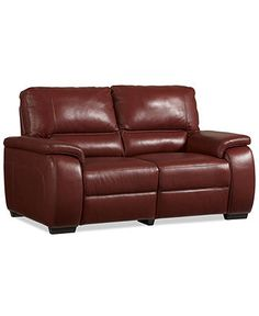 Marchella Leather Reclining Loveseat, Dual Power Recliner 69W x 41D x 39H - Living Room Furniture - Furniture - Macy's