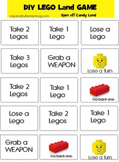 diy LEGO game - all of your LEGO lovers are going to enjoy this easy game.