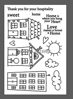 Clear Stamp Sweet Home (SRM Stickers)