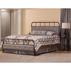 Hillsdale Langdon Upholstered Queen Panel Bed in Rubbed Black Hillsdale Furniture, Headboard Designs, Beds For Sale, Queen Bedding Sets, Headboard And Footboard, Headboards, Bed Sets, Upholstered Beds, Panel Bed