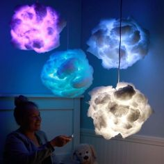 Rainbow Cloud Lamps All hail the Glow Cloud. Rainbow Cloud Lamps All hail the Glow Cloud. Kids Crafts, Diy And Crafts, Craft Projects, Kids Diy, Best Diy Projects, Cute Crafts For Teens, Glow Crafts, Budget Crafts, Craft Ideas