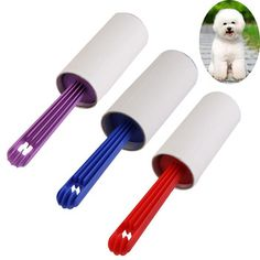 V1NF New Dog Cat Pet Hair Remover Pick Up Brush Fur Sticky Lint Roller 40 Sheets Free Shipping