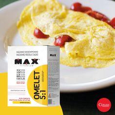 O suplemento ideal para quem quer uma refeição saborosa, rápida, prática e com ótima funcionalidade no organismo. Complementos a gosto!  #ConanNutrition #MaxTitanium #Omelet