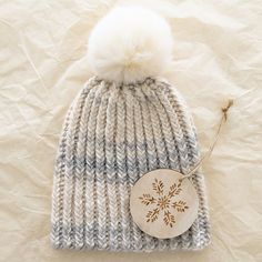 6da20d6ce10 Knit this hat…Quick Like a Snow Bunny! Free pattern Knit Or Crochet