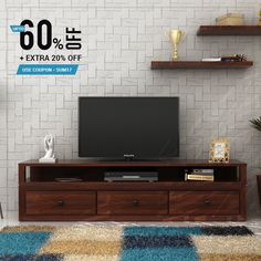 The Carvel TV unit is a very classy piece of furniture. Owing to its large size, it is very suitable for every size of TV.