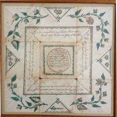 """6. Puzzle purse,1825. """"Round is my ring and hath no end..."""" Hand painted (C) Nancy Rosin collection"""