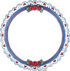 Molduras e Barras - Carla Simons - Picasa Web Albums - circular frame - eyelet with hearts