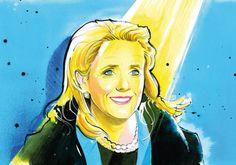 Aquarelle : La député americaine Debbie Dingell pour le Washington National Journal par Isaac Bonan