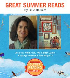 Looking for great summer reads for kids? Here's a recommendation by Blue Balliett! Click through or visit scholastic.com/summer for more. #summerreading