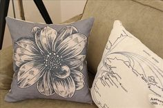 18inch Printing Flower Decoration Cushion Cover by panpanhome, $15.00