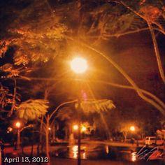 散歩 walk in the #park #midnight #philippines
