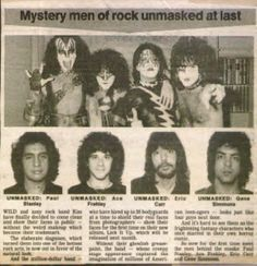 Kiss unmasked! Can anyone see what's wrong with this picture? Spot ALL the anomalies!