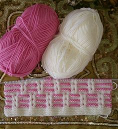 "Knitting baby [   ""Two tone k 