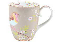 Pip Studio blue bird mug - Shabby Chic China Pip Studio, Pretty Mugs, Cute Mugs, Rustikalen Shabby Chic, Teintes Pastel, Photo Mug, Porcelain Mugs, Color Azul, Tea Time