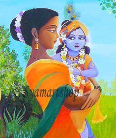 Krishna & Mother Yashoda