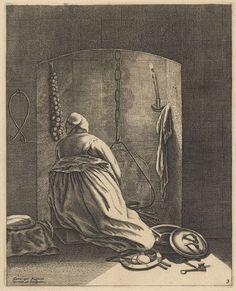 Geertruyt Roghman (Dutch, 1625–1651/57). A Woman Cooking, ca. 1648–50. The Metropolitan Museum of Art, New York.The Elisha Wittelsey Collection, The Elisha Wittelsey Fund, 1956 (56.550.4)