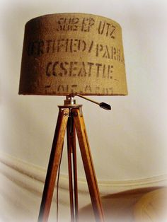 Vintage Tripod Floor Lamp Wood Photographers with Chrome Hardware and New Electrical. $300.00, via Etsy.