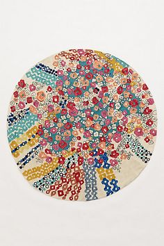 Confetti Flora Rug  #anthropologie this reminds me of a #klimt! So cool. I would never leave this rug.