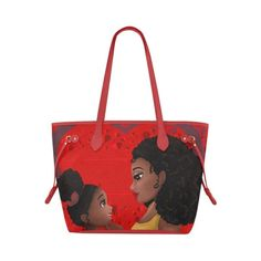 African American Black Girl Mother Daughter Tote Bag Perfect Gift Idea  Custom Tote Bags acf721478b087