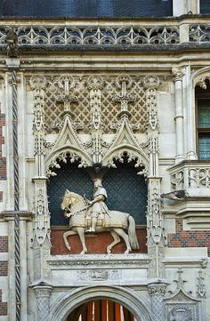 Detail from the Chateau Royal in Blois ~ Loire
