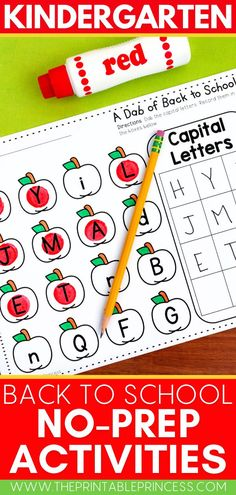 While some are wrapping up the school year, many of us can't help but dream and plan for the coming fall! Enjoy these back-to-school themed no-prep literacy and math pages welcoming students with everything from letter and number practice to shapes, patterns and so much more! Kindergarten Math Activities, Word Work Activities, Counting Activities, Math Literacy, Alphabet Activities, Teaching Numbers, Teaching Jobs, Student Learning, Teaching Ideas