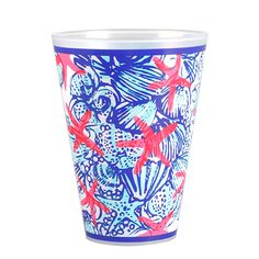 REPIN, Save for later! ~ LILY PULITZER -  Give your party some pep with these tastefully sweet Lilly Pulitzer tumblers. So raise a glass and give a toast to these casual cups! These glasses will become
