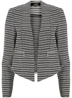 Womens black and white jacket from Dorothy Perkins - £42 at ClothingByColour.com