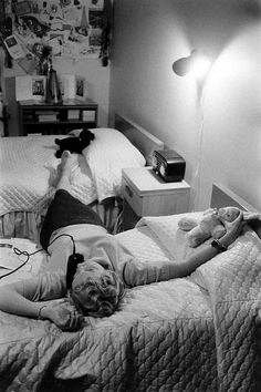 Teenager on the telephone 1950s