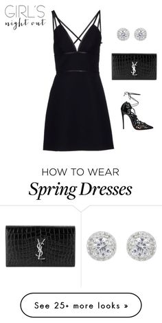 """Prada Short Dress"" by meli-g35 on Polyvore featuring Prada, Christian Louboutin, Yves Saint Laurent and girlsnightout"
