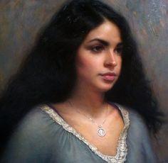 Oil painting of Christine Scott Nickerson