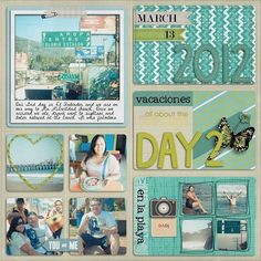 #papercraft #scrapbook #layout vacation scrapbooking, project life...I don't understand this but it looks nice =) #vacationscrapbook