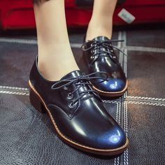 64.01$  Watch here  - Korean Style Fashion Brush Style Round Toe Crossed Lace-up Medium Thick Heels Womens Singles Shoes Size 38 39 Promotion Hot Sale