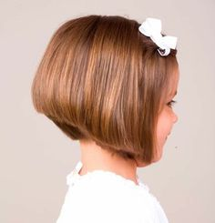 Stacked Bob Hairstyle For Kids
