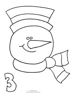 snowman coloring pages Printable Snowman5 Winter