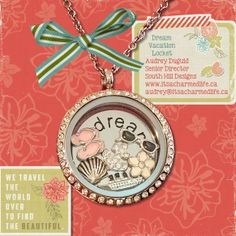 Escape the snow and plan a dream vacation in your locket. :)