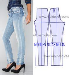 Detalhes e design de calças - Moldes Moda por Medida