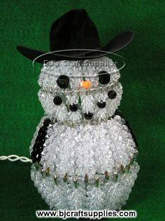 "cowboy christmas decorations ideas | ... Safety Pin Snowman Cowboy Black Felt Cowboy Hat - Approx 8"" with hat"